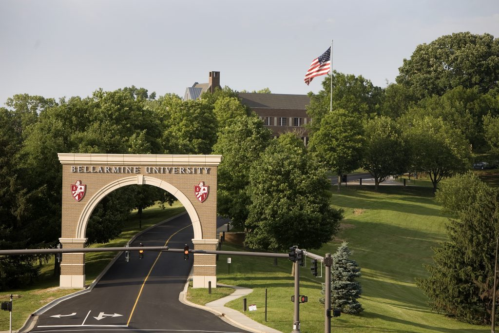 Entrance arch to Bellarmine University.