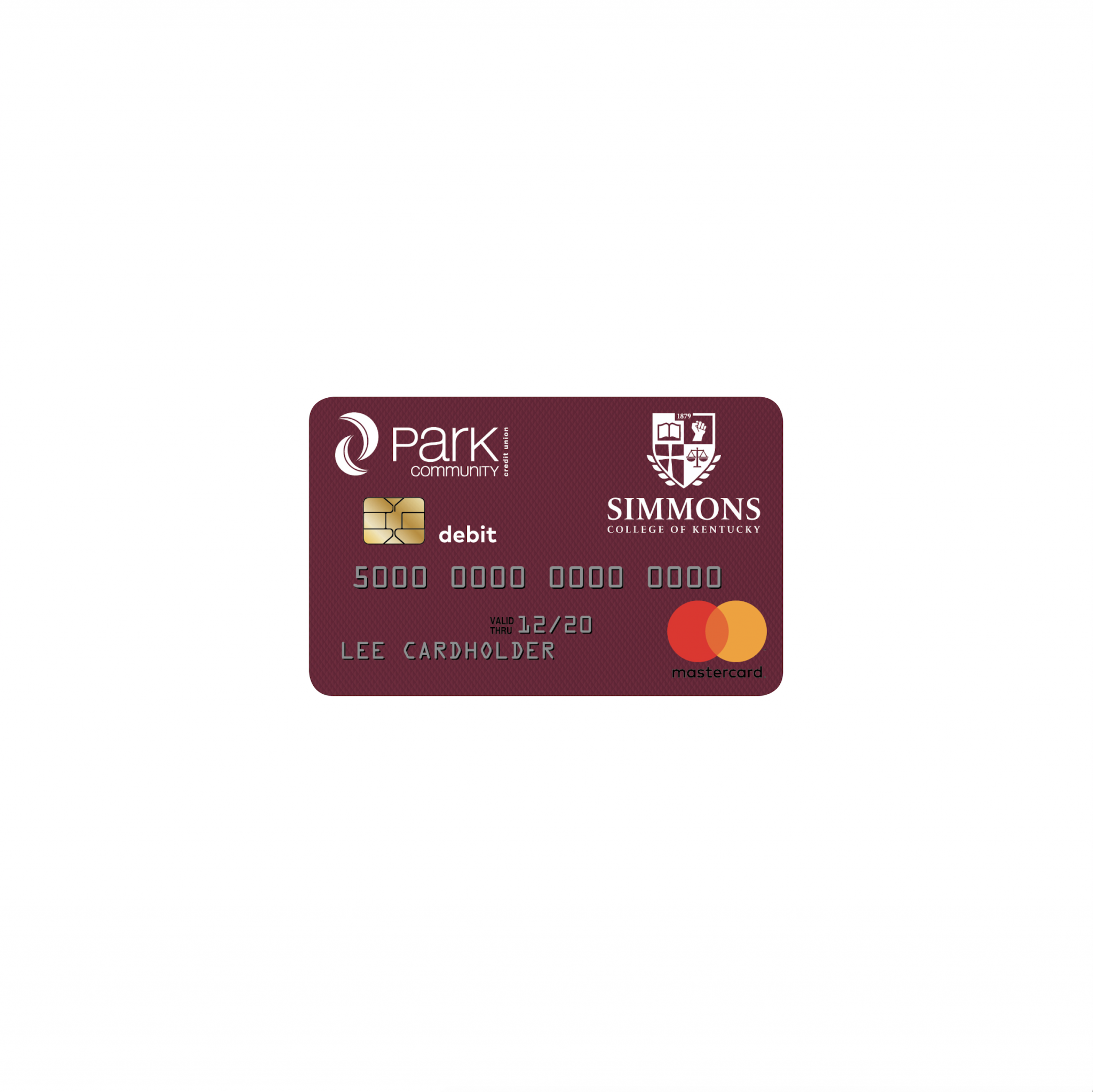 Photo of co-branded debit card