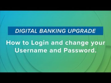 How to Log in and change your Username and Password
